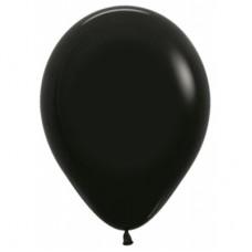 Гелиевый шар Черный Пастель