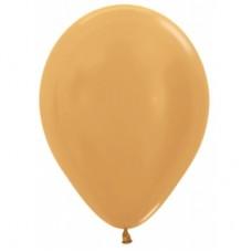Гелиевый шар Золото Металл