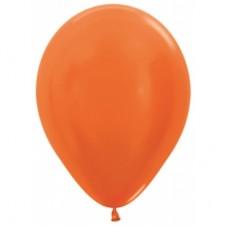 Гелиевый шар Оранжевый Металл