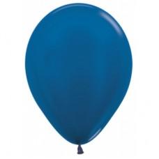 Гелиевый шар Синий Металл