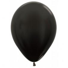 Гелиевый шар Черный Металл