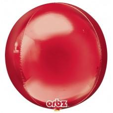 """3D Сфера Красный, 16""""/40 см"""