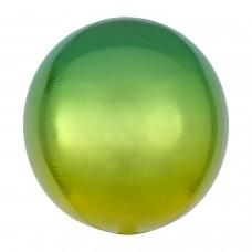 3D Сфера Омбре Желтый и Зеленый с гелием