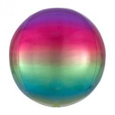 3D Сфера Омбре Радуга с гелием