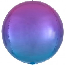 3D Сфера Омбре Розовый и Голубой с гелием