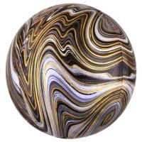 3D Сфера Мрамор Черный с гелием