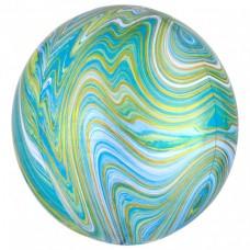 3D Сфера Мрамор Зеленый с гелием