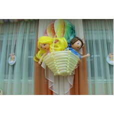 """Оформление шарами """"На воздушном шаре"""""""