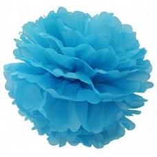 Помпон Голубой 15см