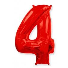 """Цифра 4 Красный, 40""""/102 см"""