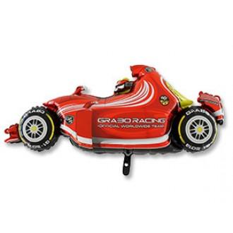 Фольгированная фигура Гоночная машина красная