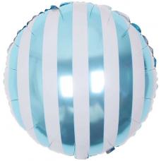 """Воздушный шар """"Полоска Голубая круг"""" с гелием"""