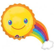 """Воздушный шар """"Солнце с радугой"""""""