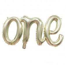 """Фольгированная надпись """"One"""""""