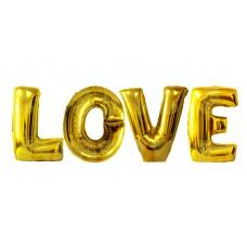 Надпись LOVE Золото
