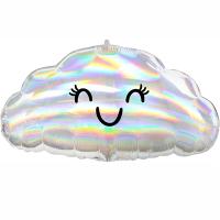 """Воздушный шар """"Облачко с глазами"""" с гелием"""
