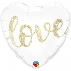 """Фольгированное сердце """"Love"""""""