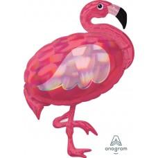 Фольгированная фигура Фламинго перламур