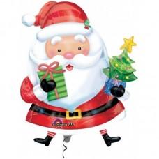 """Воздушный Шар """"Санта с елкой"""""""