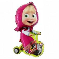 """Фольгированная фигура """"Девочка на велосипеде"""""""