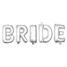 Надпись BRIDE с гелием
