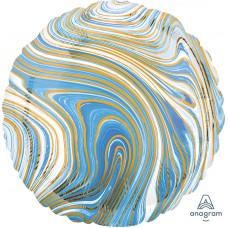 "Круг Мрамор Blue 18""/46 см"