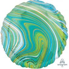 "Круг Мрамор Blue Green 18""/46 см"
