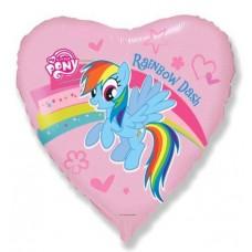 """Фольгированное сердце """"Моя маленькая пони"""""""