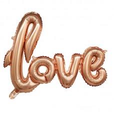 """Фольгированная надпись """"love"""" розовое золото"""