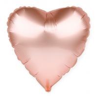 Сердце Розовое Золото с гелием