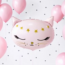 Розовая кошечка шар с гелием