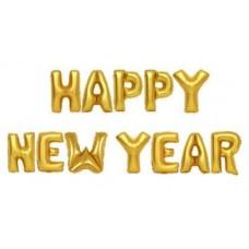 """Фольгированная надпись """"Happy New Year"""" золото"""