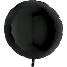 """Круг Черный с гелием, 32""""/80 см"""