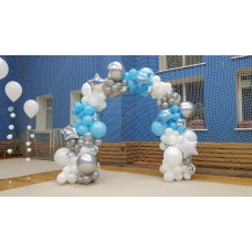 """Фотозона из воздушных шаров """"Хрусталь"""""""