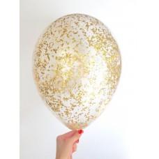 Гелиевый Шар с конфетти Дробленное золото