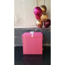 Коробка Сюрприз для шаров (розовая) 60*60*60 см