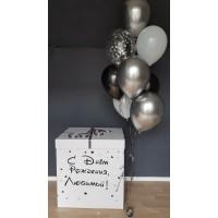 Коробка-сюрприз для шаров (белая) 60*80*80 см