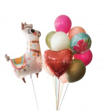 """Воздушные шары """"Лама Дама"""""""