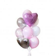 """Воздушные шары """"Silver Pink"""""""