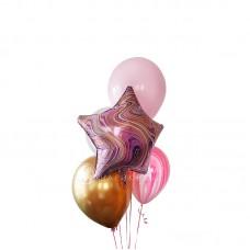 """Воздушные шары """"Розовый мрамор"""""""