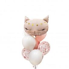 """Воздушные шары """"Розовый котенок"""""""