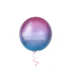 Воздушный шар сфера омбре Розово-голубой