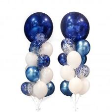 """Воздушные шары """"Синий иней"""""""